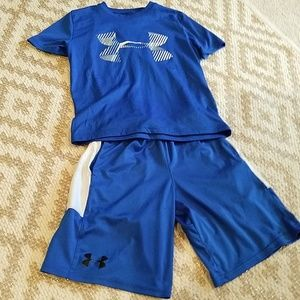 Under Armour set sz YSM for approx age 6yr old